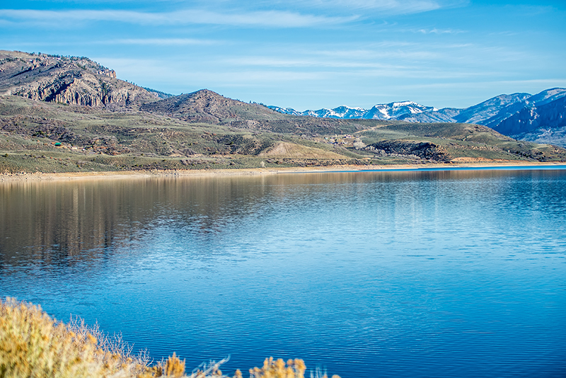 blue mesa reservoir in gunnison national forest colorado