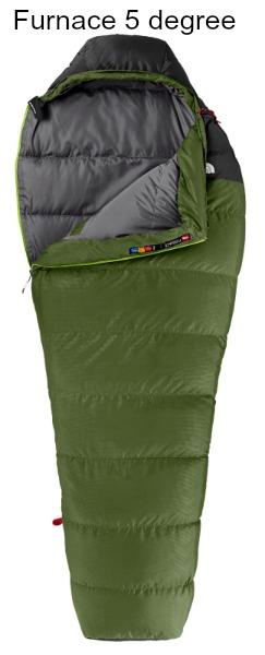North Face Furnace 5 Degree sleeping bag
