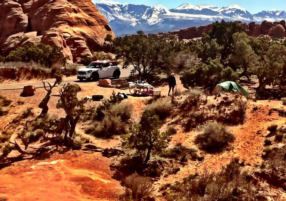 Camp in Moab National Parks