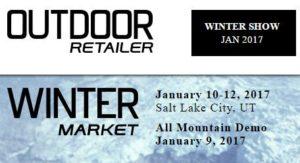 Outdoor Retailer Winter Tradeshow 2017