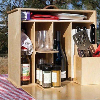 Stocked Camp kitchen