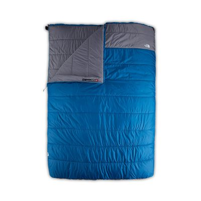 Two Person sleeping bag, blue and gray