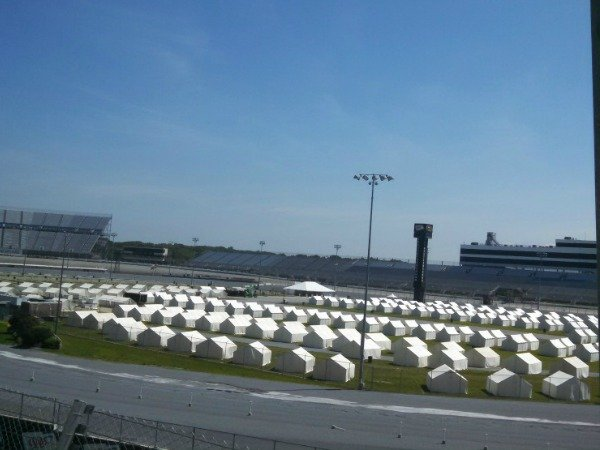 canvas tents in race track