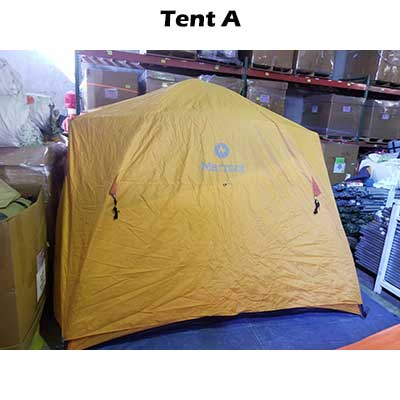 Side view rainfly Tent A