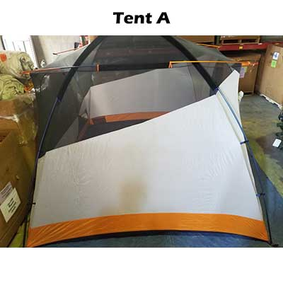 Sideview tent body Tent A