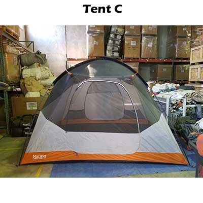 side view of limestone 6p tent
