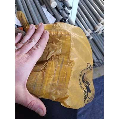 repair on bag