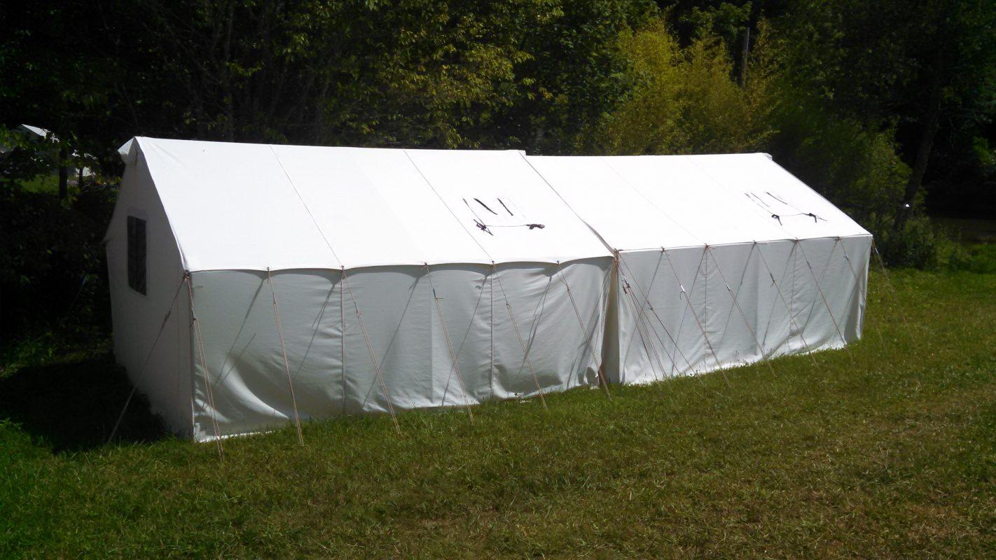 12X28 Canvas Hunting Tent Rental