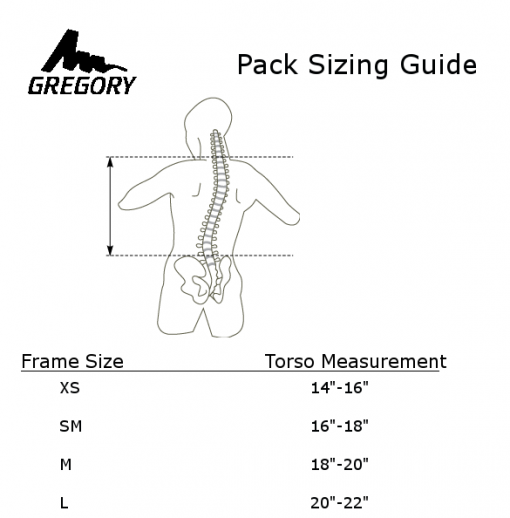 Backpack Torso Size Guide