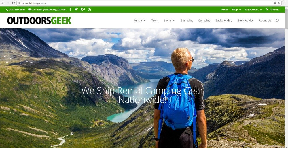 Preview New Outdoors Geek Website
