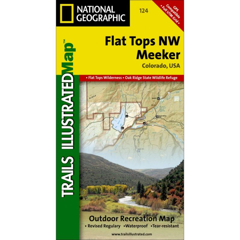 Nw Colorado Map.Flat Tops Nw Meeker Trail Map Outdoors Geek
