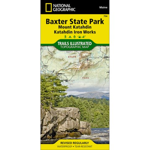 Baxter State Park Trail Map | Katahdin Map | Iron Works Map