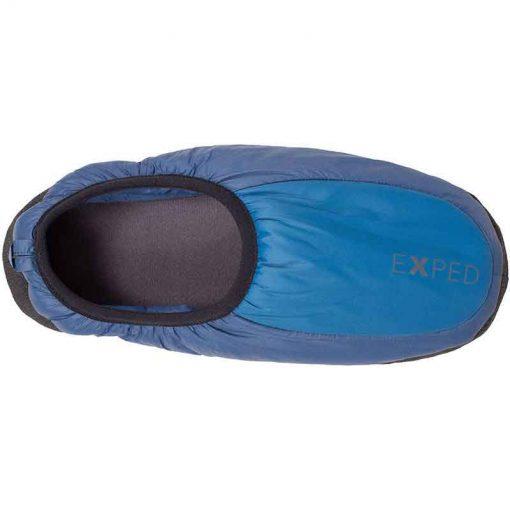 Blue camp slipper top view
