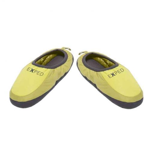 Top View of green camp slippers