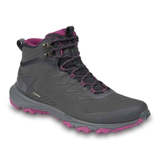 Dark Grey and Dark pink boot side view
