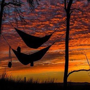 Hammock at sunset