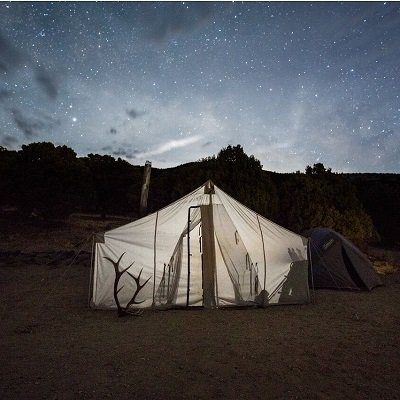 traditional frame wall tent