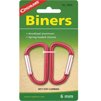 Coghlans 6mm Carabiner 2Pk Front View