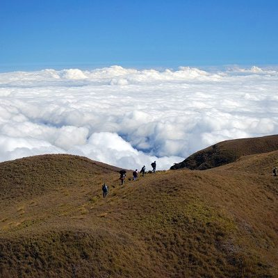 Hikers on a Ridge