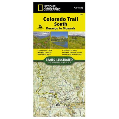 National Geography Colorado Trail South Map 1201