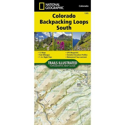 National Geographic Colorado Backpacking Loops 1305 Map