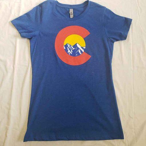 Womens Blue Shirt Front