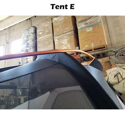 Pole of tent E