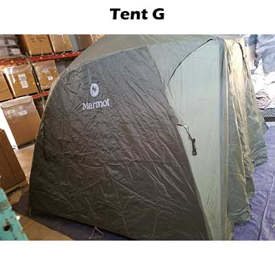 6 Person tent with fly on. Tent G
