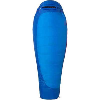 blue Women's length sleeping bag mummy style