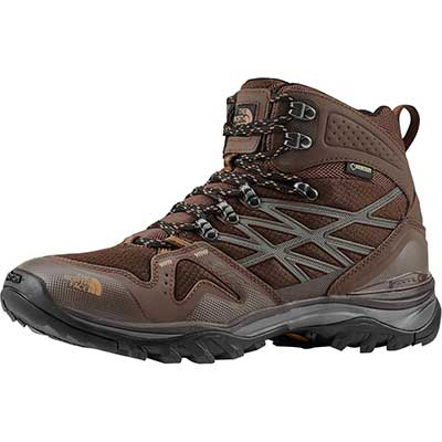 Chocholate/khaki colored hiking boots